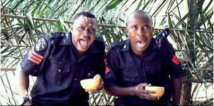 screaming policemen