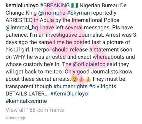 mompha arrested