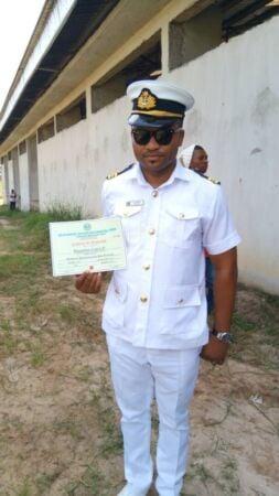 Ezekiel Thankgod Onyedikachukwu during his coronation as a Nigerian Navy Lieutenant