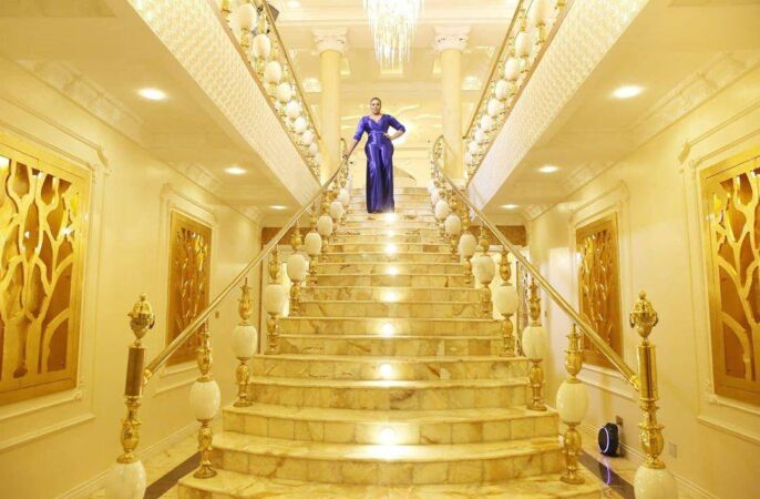 Ehi Ogbebor in her new mansion she celebrated during her 35th birthday