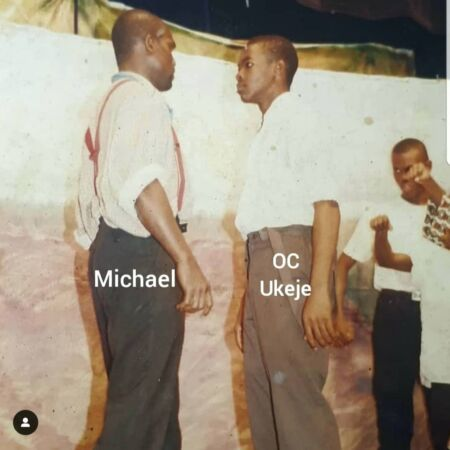 OC Ukeje during a stage play, back in 2001