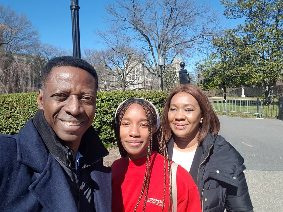 Pastor Sam Adeyemi with his daughter and wife