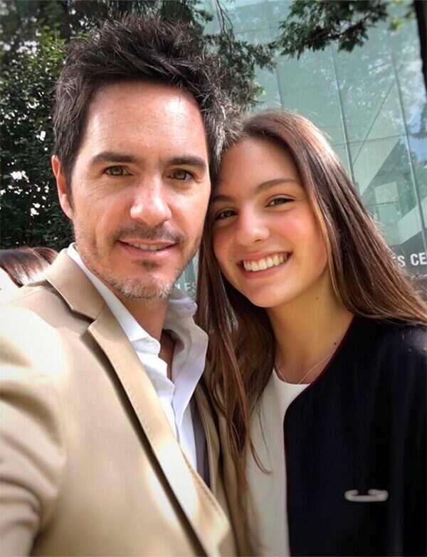 Lorenza Ochmann and her father Mauricio Ochmann