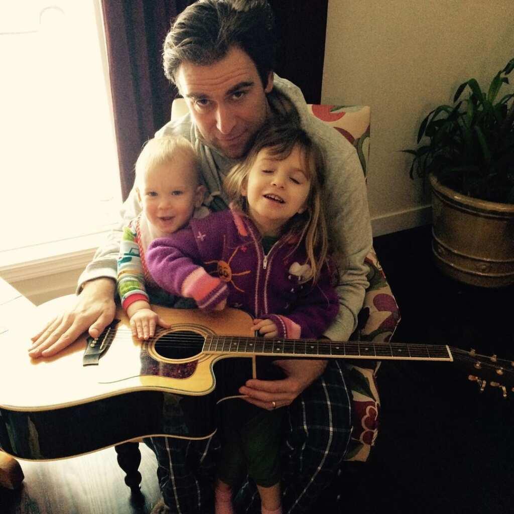 Derek Tisdelle and his kids