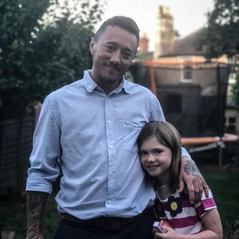 EJ Osborne and his daughter Orla