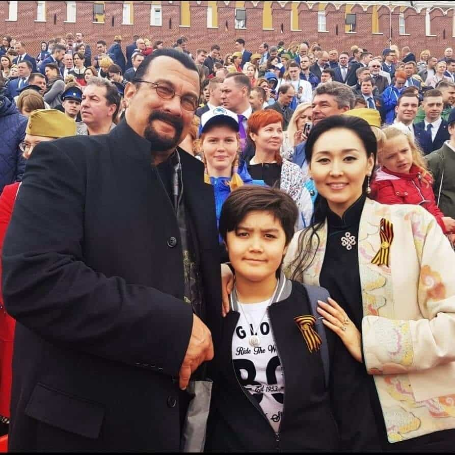 Erdenetuya Batsukh Kunzang Seagal and Steven Seagal 1