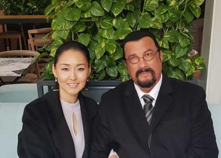 Erdenetuya Batsukh and Steven Seagal