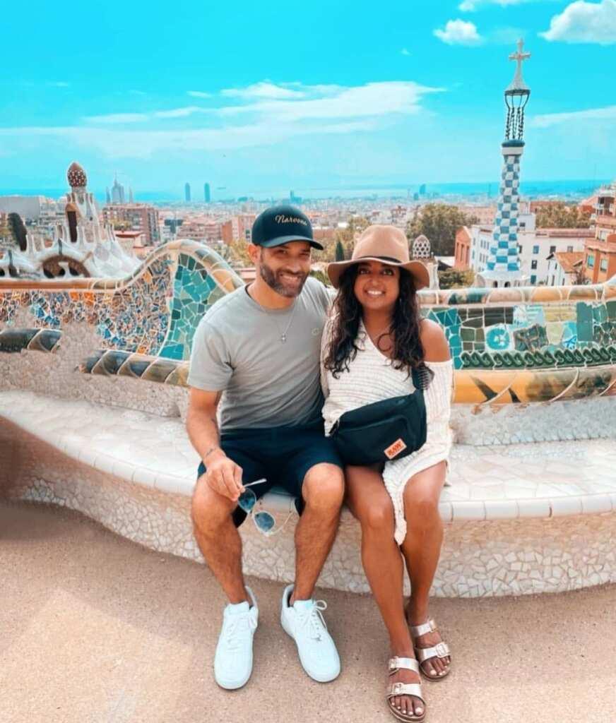 Medha Gandhi and her boyfriend Brandon