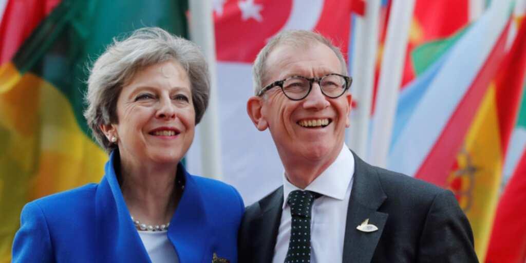 Philip May and his wife Theresa May