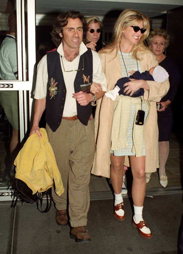 Richard Taubman and Christie Brinkley and their son Jack when he was a baby