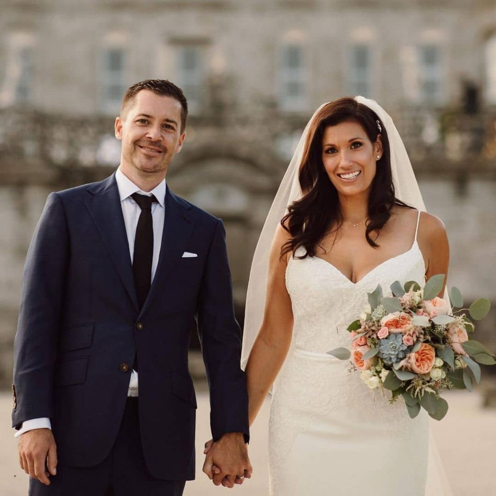 Brynn Gingras and Adrien Melia during their wedding